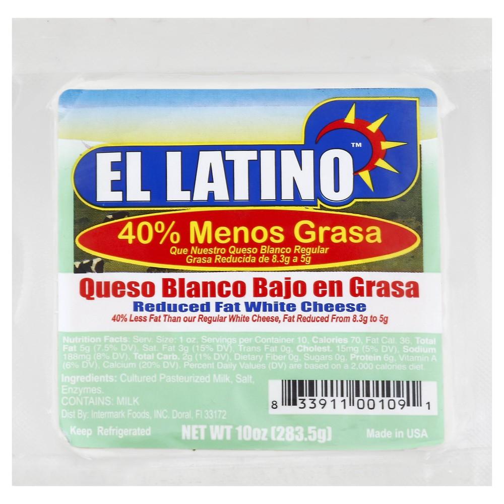 Queso Blanco Bajo En Grasa- Reduced Fat White Cheese 10 oz