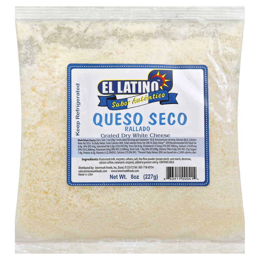 Queso Seco Grated Dry White Cheese 8 oz