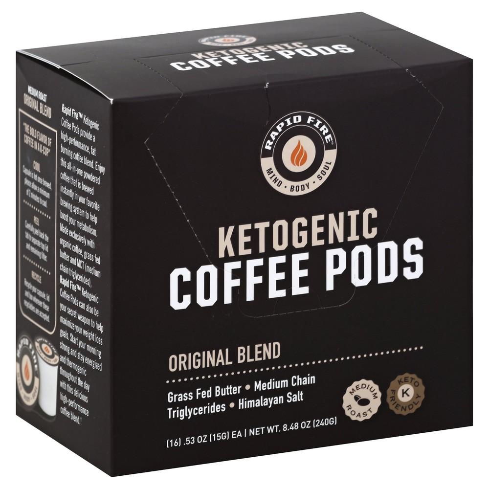 Ketogenic Coffee Pods, Original Flavor 8.48 oz., 16 pods