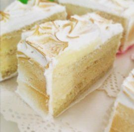 Pastel individual tres leches