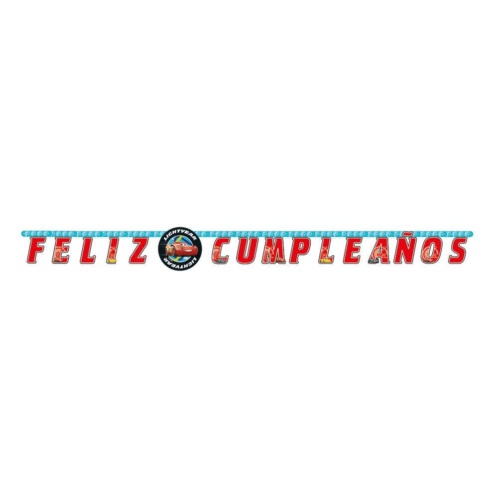 Cartel feliz cumpleaños Cars 1 und