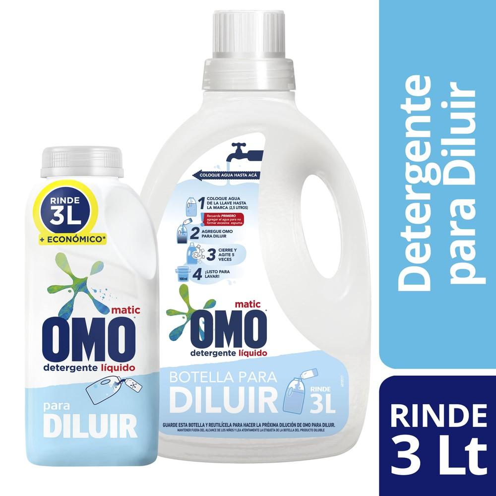 Detergente líquido pack para diluir rinde 3L