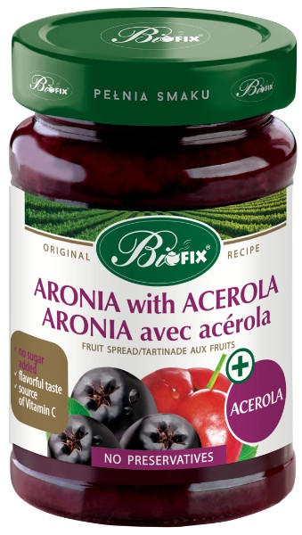 Aronia with acerola juice jam