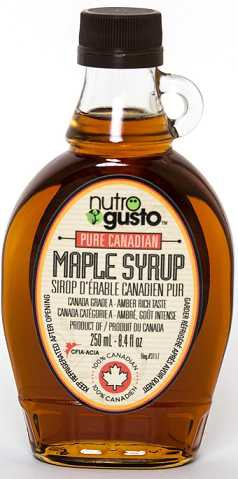 Pure canadian maple syrup