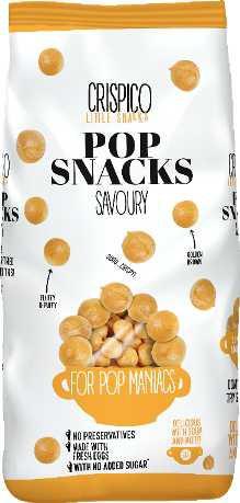 Pop snacks savoury 125g