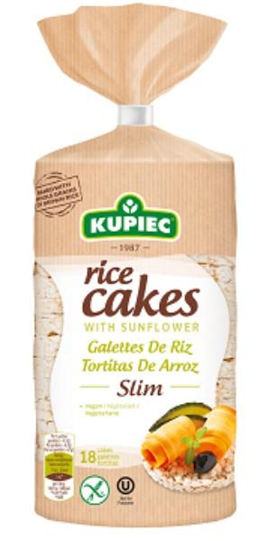 Rice cakes with sunflower slim