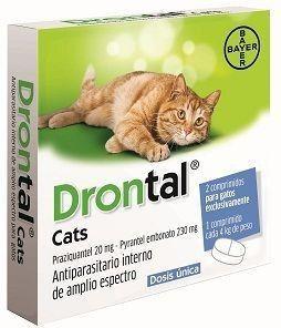 Antiparasitario para gatos 2 comprimidos