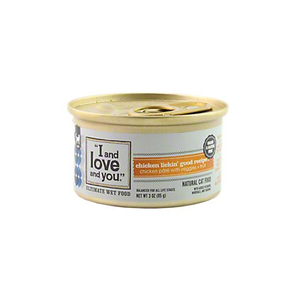 I and Love and You Chicken Lickin' Good Cat Food, 3 oz