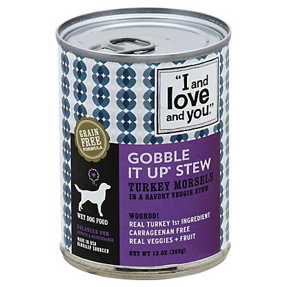 I and Love and You Gobble It Up Stew Dog Food, 13 oz