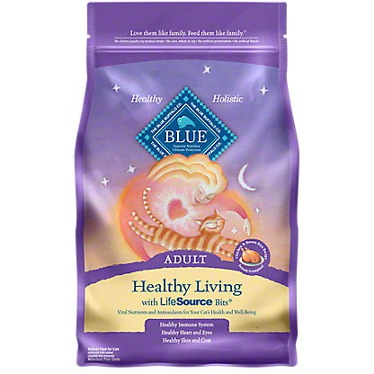 Blue Buffalo Healthy Living Chicken & Brown Rice Adult Cat Food, 5 lb