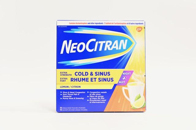 Neocitran cold & sinus extra strength lemon