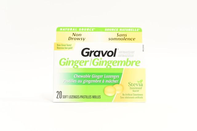 Gravol ginger chewable lozenges