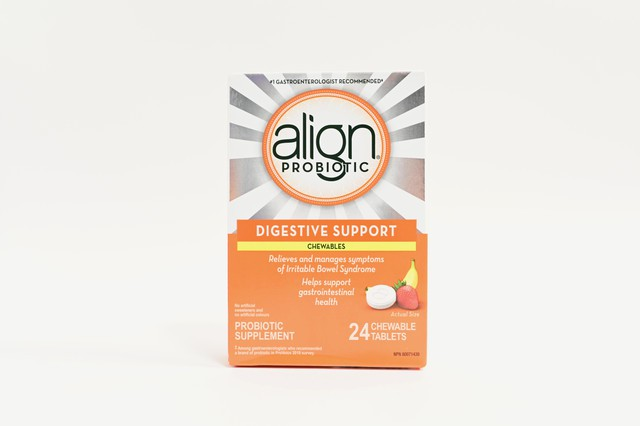 Align probiotic digestive support chewable tablets