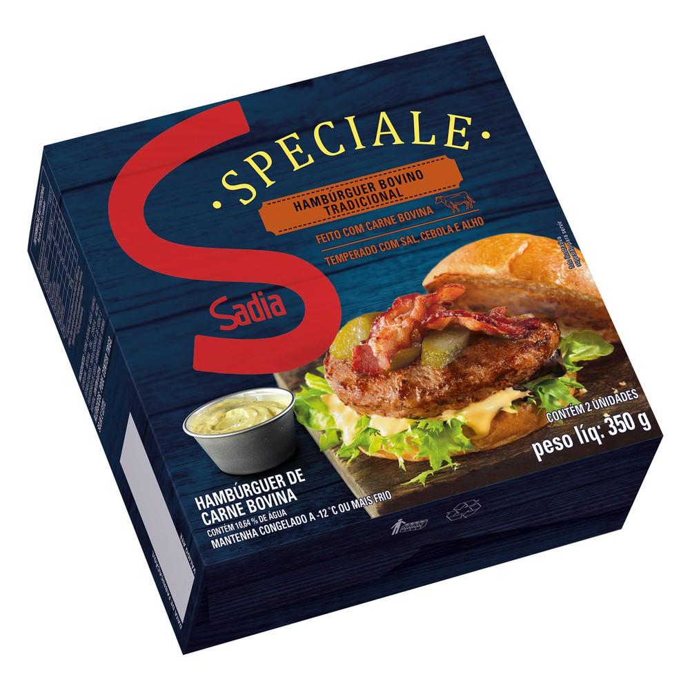 Hambúrguer de carne bovina tradicional Speciale