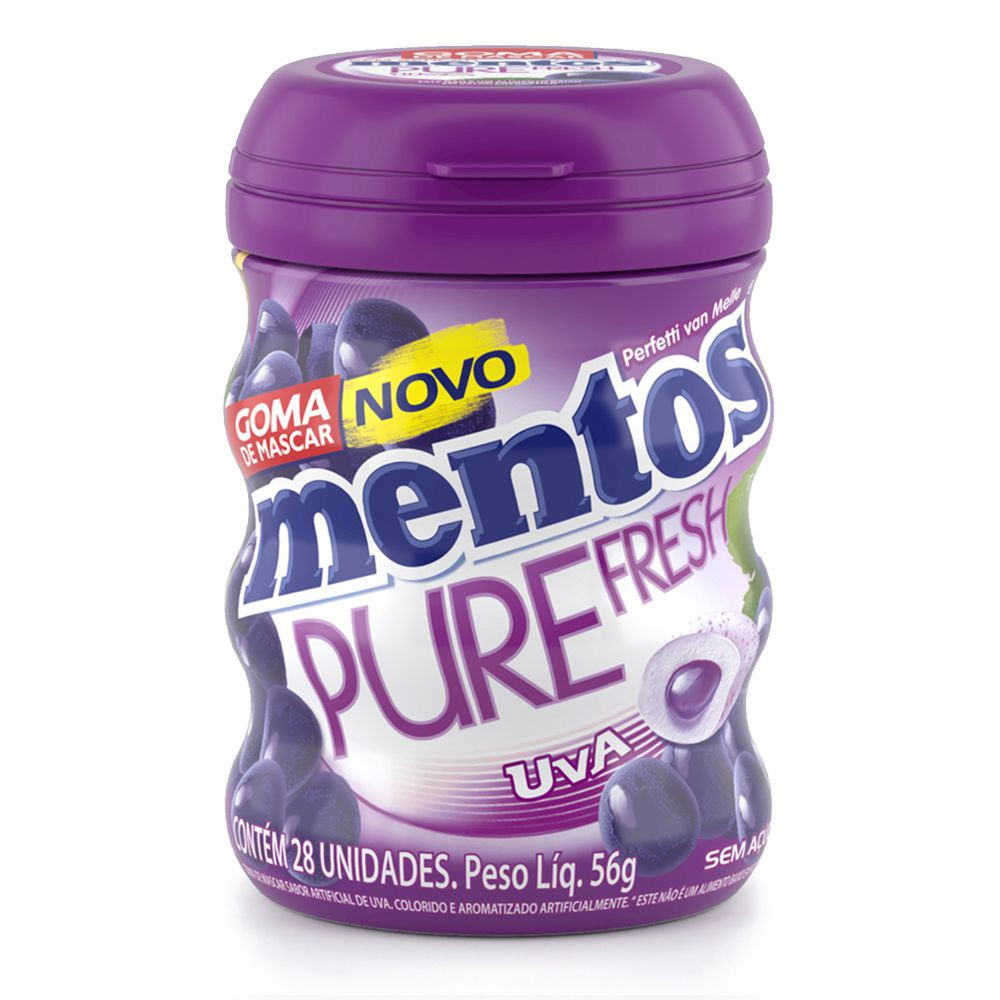 Goma de mascar pure fresh sabor uva