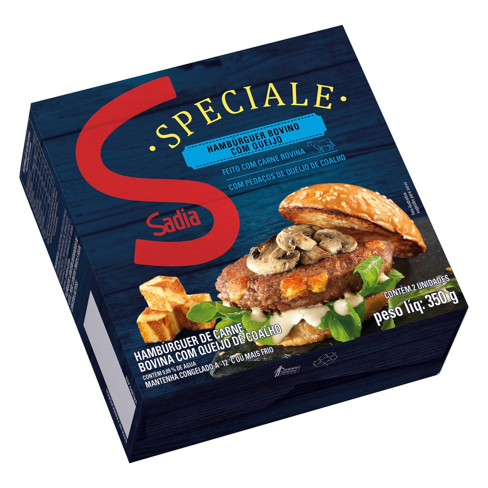 Hambúrguer de carne bovina com queijo Speciale