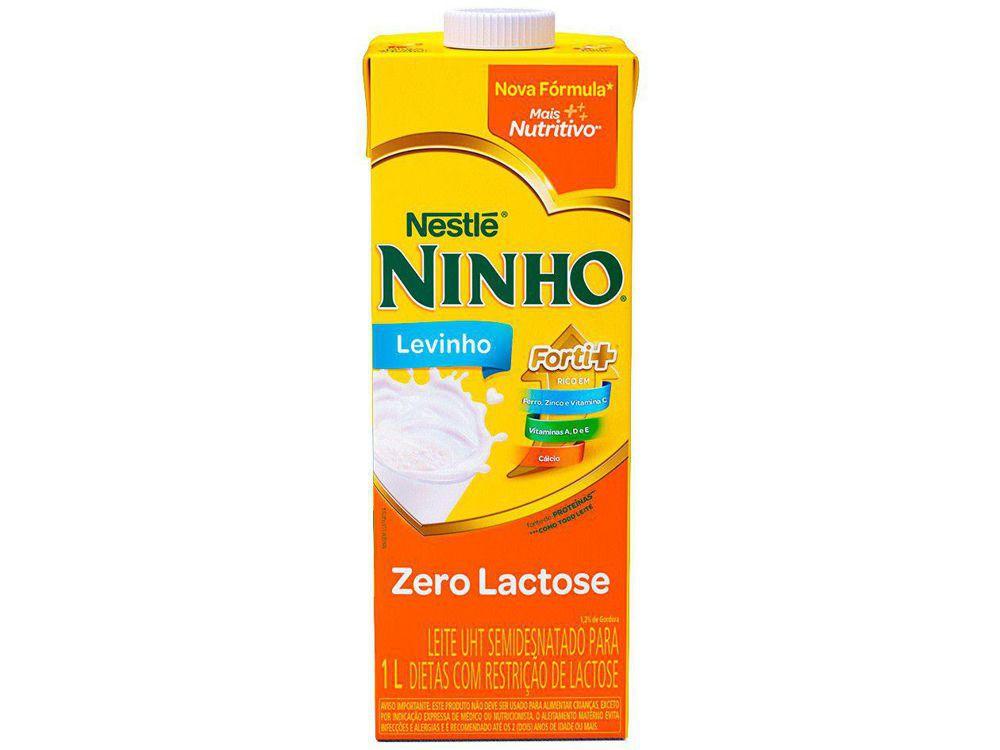 Leite UHT semidesnatado Ninho levinho zero lactose fort+