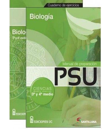 Manual de preparación psu y cuaderno de ejercicios (pack) biología 3ro y 4to medio