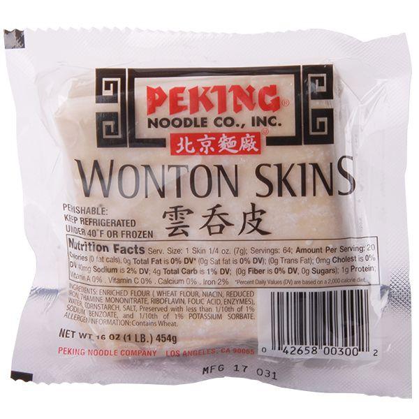 Wonton skins Empaque 454 g