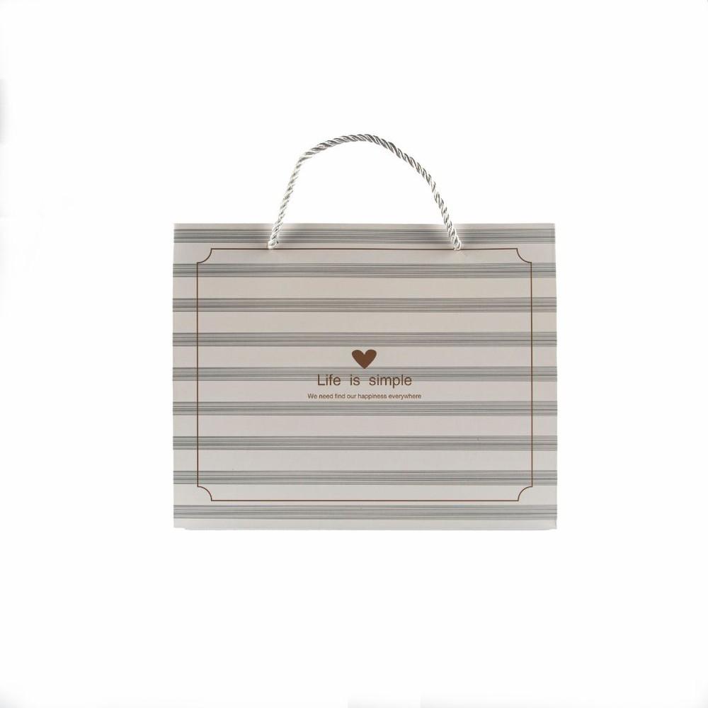 Bolsa de regalo pequeña líneas horizontales