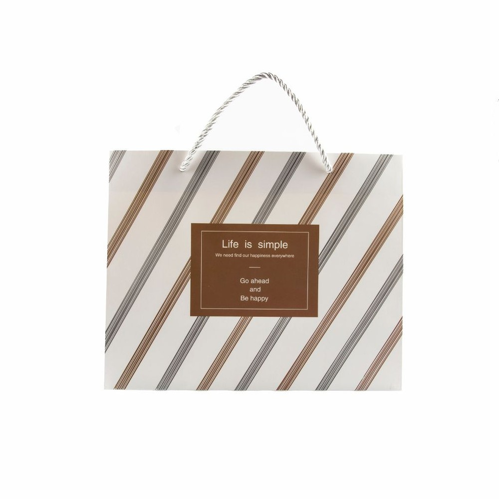 Bolsa de regalo, líneas diagonales