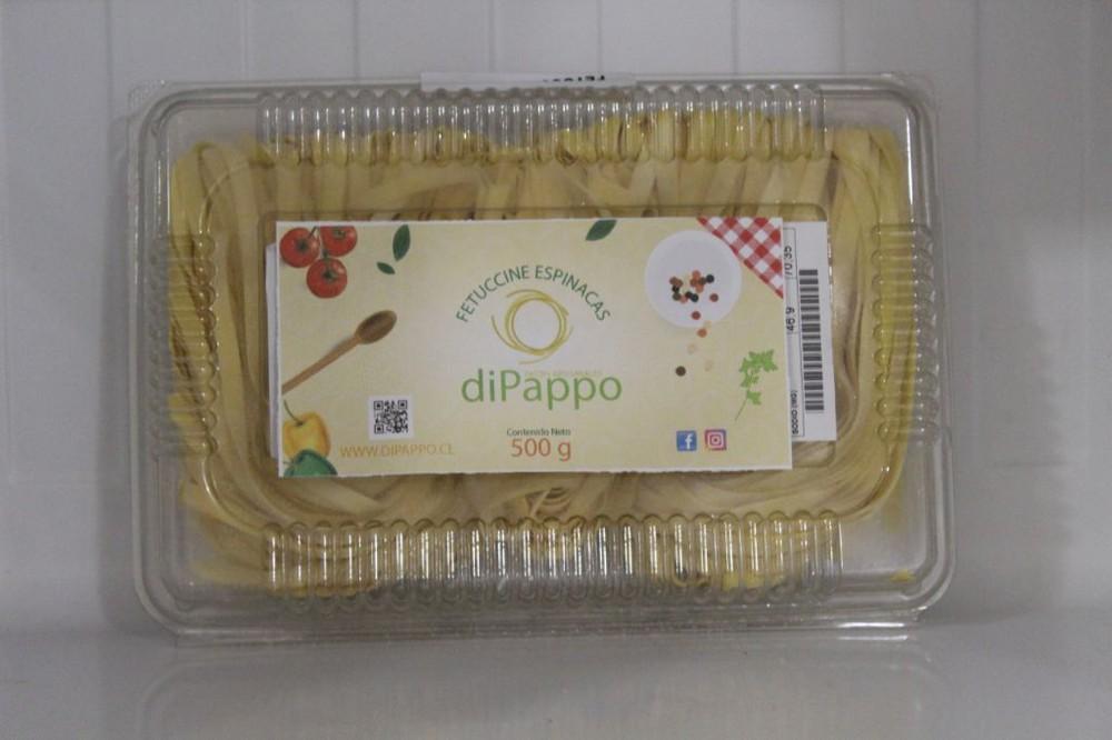 Fetuccine espinacas Bandeja 500 grs