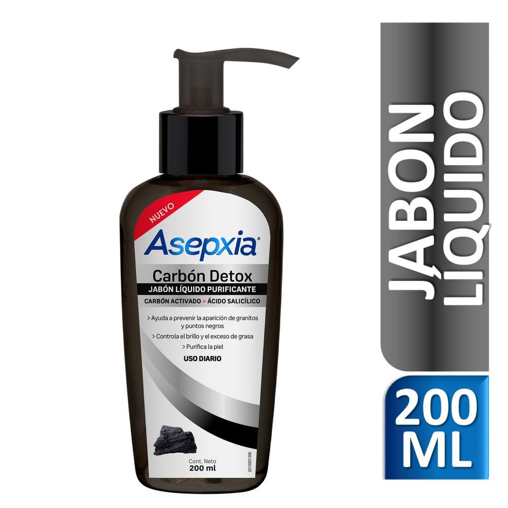 Carbón detox jabón líquido