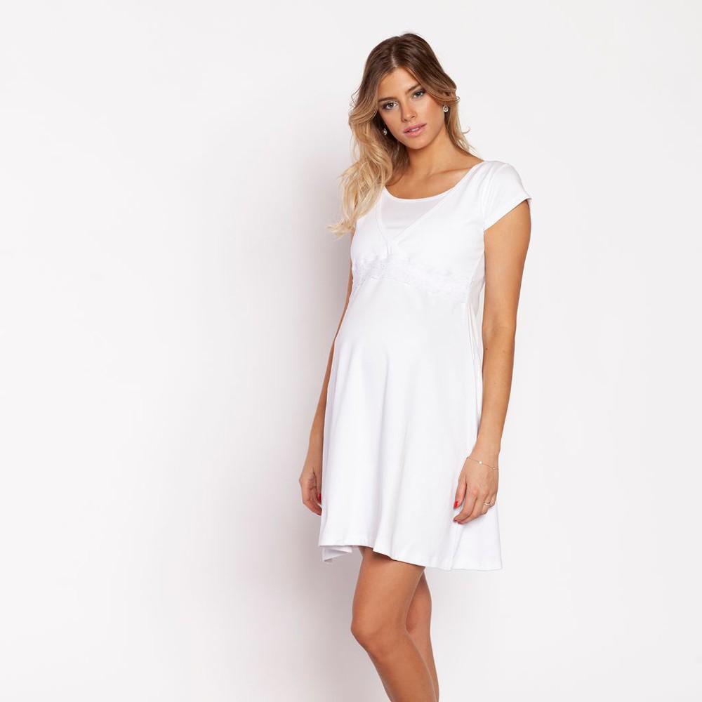 Camisa dormir encaje bb blanca m Talla: M Color: Blanca