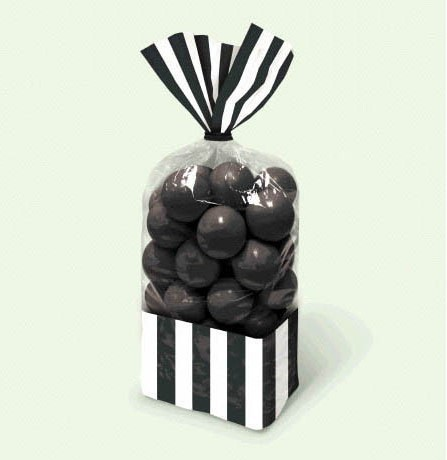 Candy favor bags  black 10ct