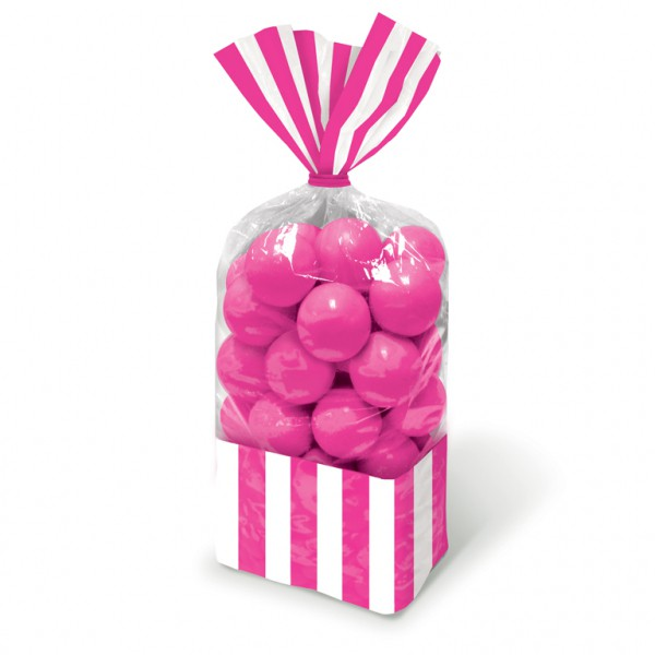 Candy Favor Bags Bright Pink 10ct
