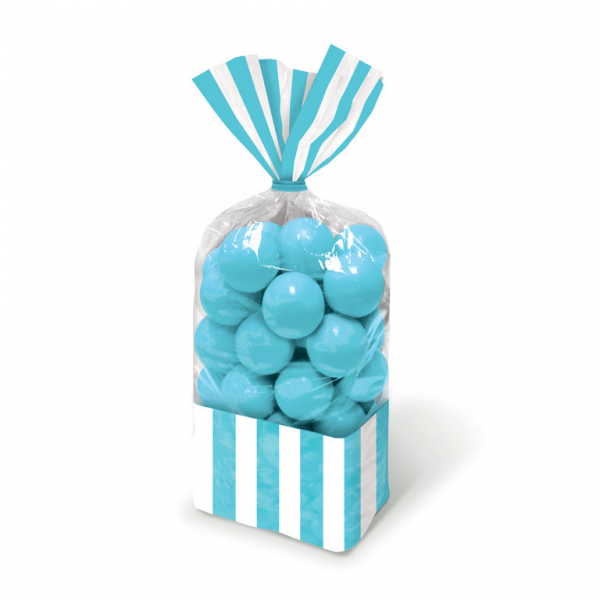 Candy Favor Bags Caribbean Blue 10ct