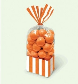Candy Favor Bags Orange 10ct