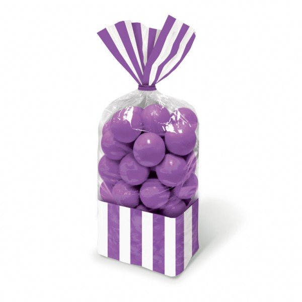 Candy Favor Bags Purple 10ct