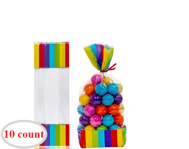 Candy Favor Bags Rainbow 10ct