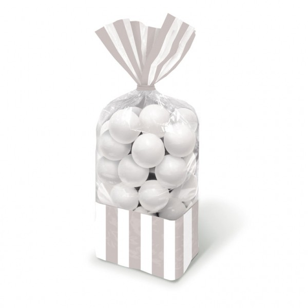 Candy Favor Bags Silver 10ct