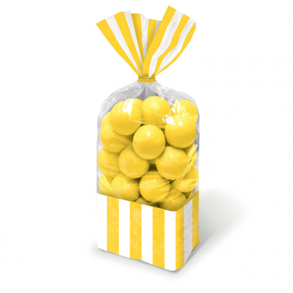 Candy Favor Bags Yellow 10ct