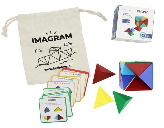 Imagram 24 piezas magnéticos +6 Años