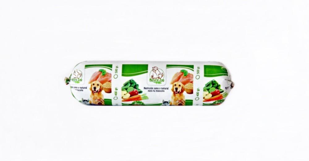 Barra barf de pollo y verduras 500gr
