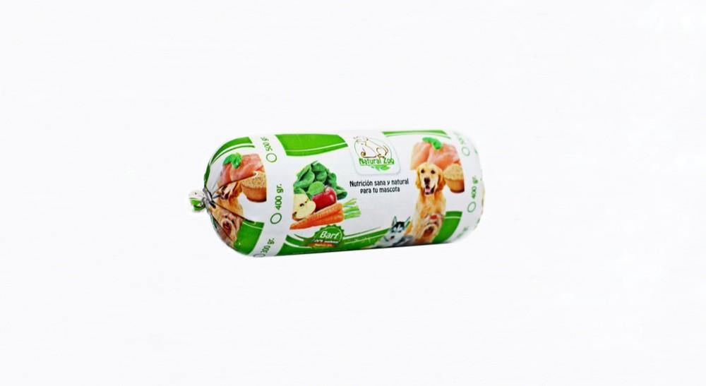 Barra barf de pollo y verduras 400gr