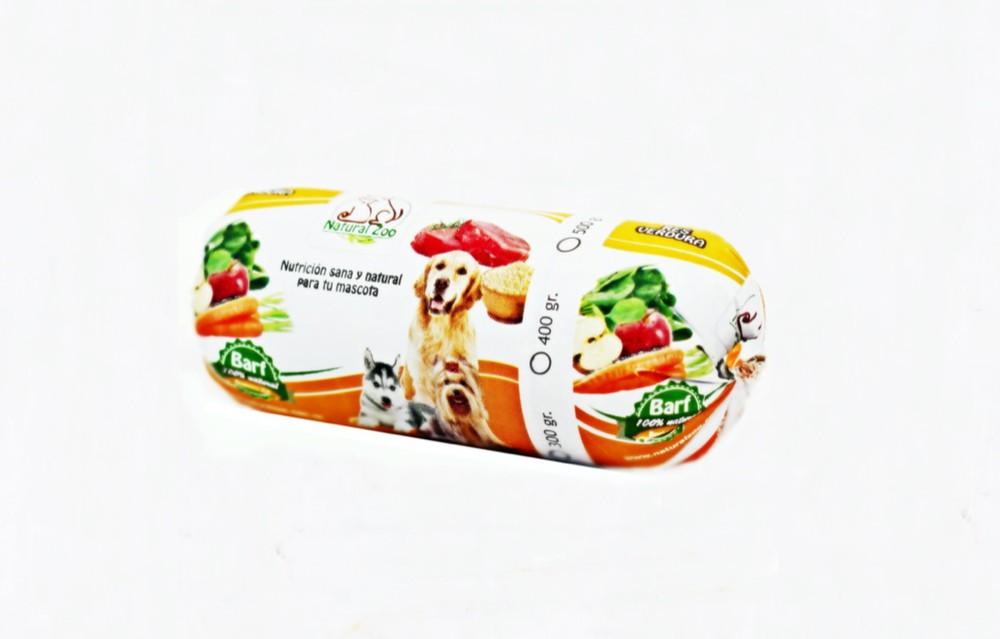Barra barf de res y verduras 400gr