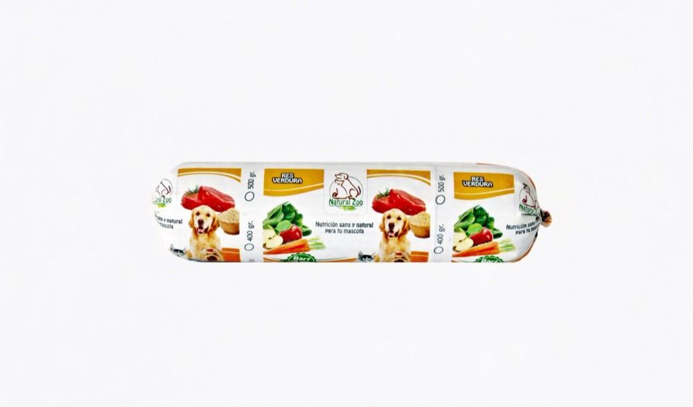 Barra barf de res y verduras 500gr