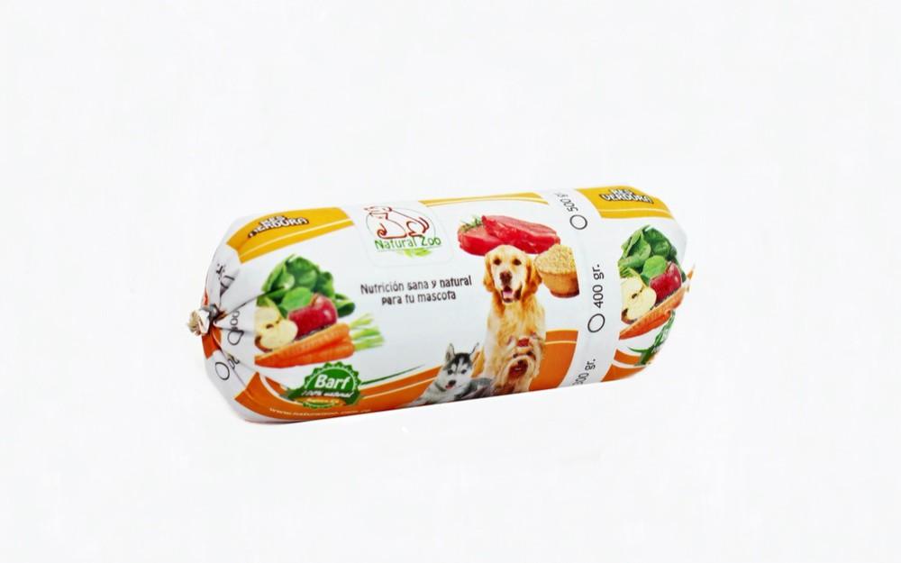 Barra barf de res y verduras 300gr