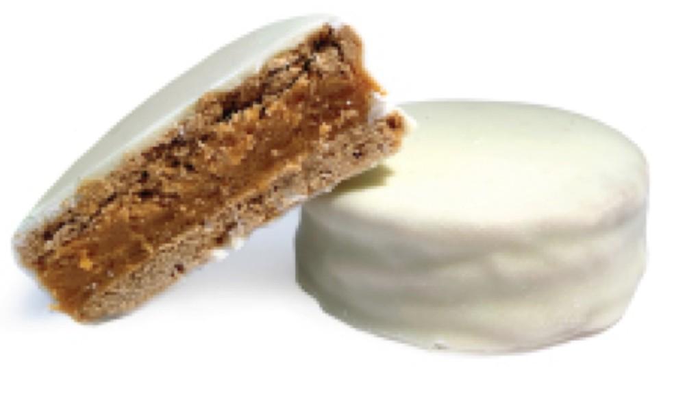 Alfajor en chocolate blanco unidad