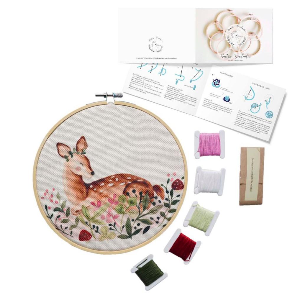 Mini kit para bordar bambi del bosque