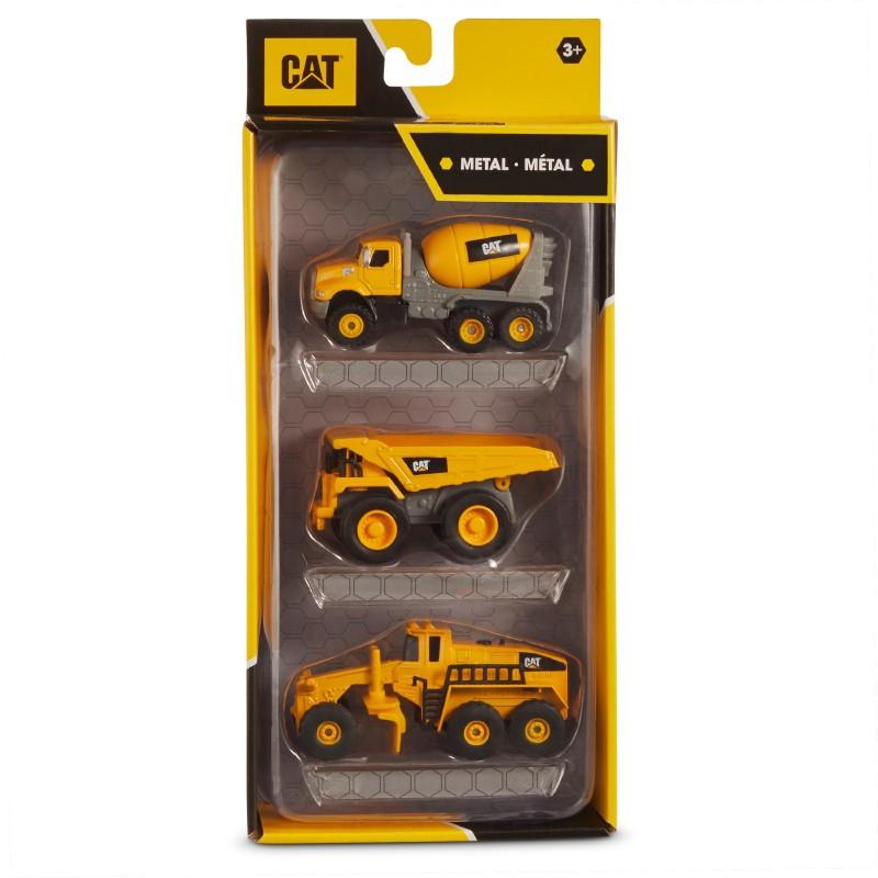 Cat pack 3 mini maquinarias 10 cm