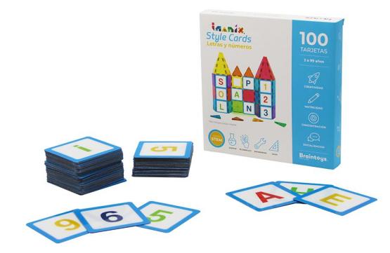 Imanix style cards letras y números