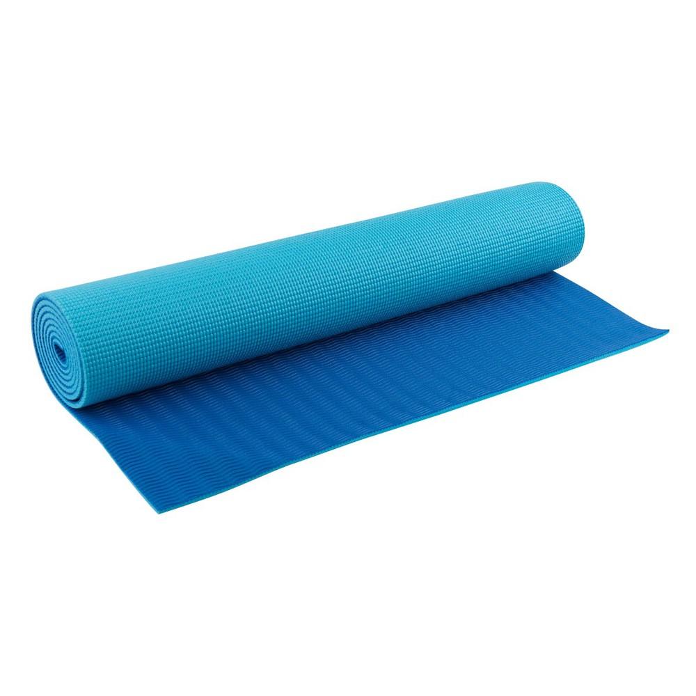 Blu wellness yoga mat double color 6mm / cian, azul Talla Única ACC