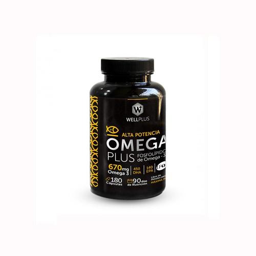 Omega plus 670 mg (180 cápsulas)