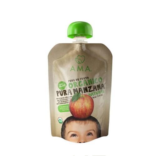 Puré de manzana orgánico.