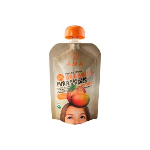 Puré de manzana y mango orgánico